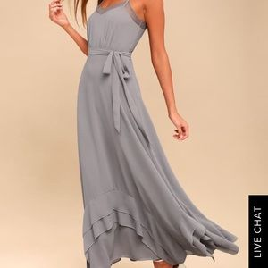 Stars in your eyes grey maxi